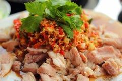 Pork spicy lemon  - asia food Royalty Free Stock Photos