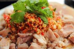 Pork spicy lemon  - asia food Royalty Free Stock Photo