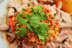 Pork spicy lemon  - asia food Stock Images