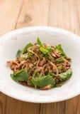 Pork spicy salad Stock Photo