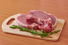 Pork stake on a board Stock Photography
