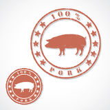 Pork stamp Royalty Free Stock Image