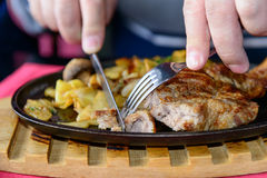 Pork Steak on the bone Royalty Free Stock Photography