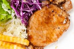 Pork steak. Stock Photo