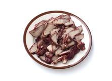 Pork steak in the dish Stock Photo