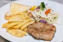 Pork steak Stock Photos