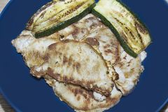 Pork steak on grill Royalty Free Stock Photography