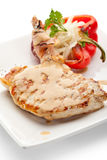 Pork Steak. Grilled Foods - BBQ Pork with Stuffed Bell Pepper Royalty Free Stock Photography
