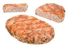 Pork steak isolated on white Stock Photos