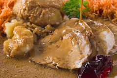 Pork Steak Meal Royalty Free Stock Photography