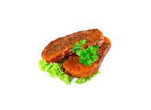 Pork steak with pepper Royalty Free Stock Photos