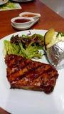 pork steak and potato Royalty Free Stock Photography