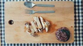 Pork steak with rice burry. Royalty Free Stock Image