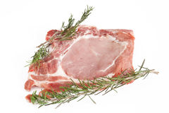 Pork steak with rosemary Royalty Free Stock Photography