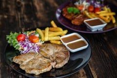 Pork Steak set royalty free stock image