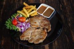 Pork Steak set royalty free stock photos