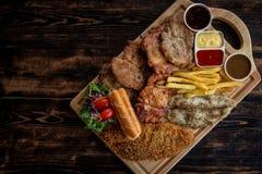 Pork Steak set royalty free stock images