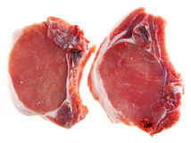 Pork steak with a stone Stock Photography