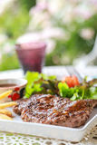 Pork steak. This is pork steak on the table Royalty Free Stock Photography