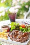 Pork steak. This is pork steak on the table Stock Photos