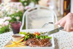 Pork steak. This is pork steak on the table Stock Image