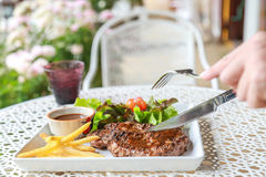 Pork steak. This is pork steak on the table Royalty Free Stock Images