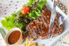 Pork steak. This is pork steak on the table Stock Photo