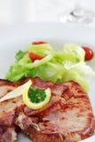 Pork steak with vegetable Stock Photos