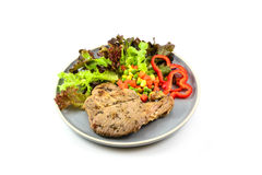 Pork steak with vegetable Royalty Free Stock Images
