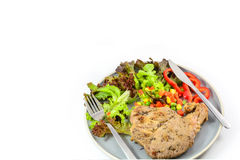 Pork steak with vegetable Royalty Free Stock Photo