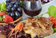 Pork Steak with Vegetables. Stock Images