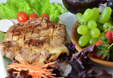 Pork Steak with Vegetables. Royalty Free Stock Photography