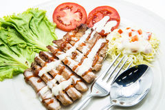 Pork Steak with Vegetables Stock Images