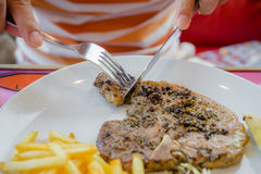 Pork steak Stock Images