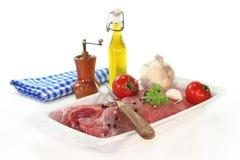 Pork steaks Stock Photos