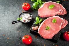 Pork steaks, fillet Royalty Free Stock Photography