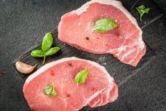Pork steaks, fillet Stock Images