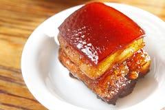 Pork stew. On the dish Stock Image