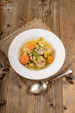 Pork stew with carrot, celery, potato and parsley Royalty Free Stock Images