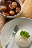 Pork stew with egg and rice. Stock Photography