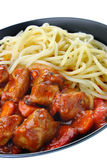 Pork stew with pasta Royalty Free Stock Photos