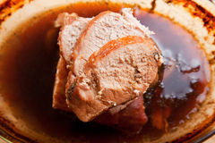 Pork stew in sauce Royalty Free Stock Images