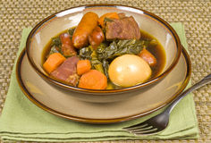 Pork Stew with Sausages and Egg Royalty Free Stock Photo