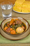 Pork Stew with Sausages and Egg Royalty Free Stock Photos