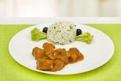Pork stew with tomato sauce Stock Photo