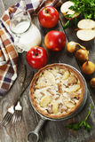 Pork stewed with apples Royalty Free Stock Photo
