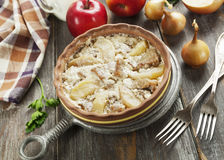 Pork stewed with apples Royalty Free Stock Photos