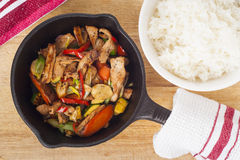 Pork Stir Fry Royalty Free Stock Photography