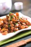 pork strimlade grönsaker Arkivbilder