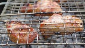 Pork. Summer barbecue concept. stock footage